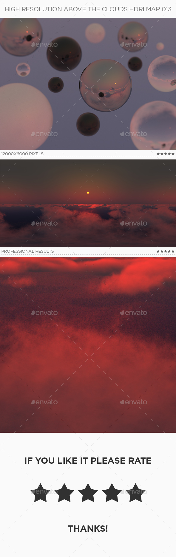 High Resolution Above The Clouds HDRi Map 013 - 3DOcean Item for Sale