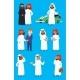 Cartoon Arabic Businessman Vector Characters
