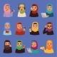 Muslim Religious Arabic Vector Adult Women