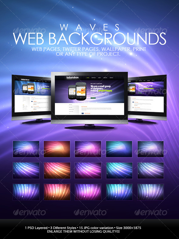 Wave Web Backgrounds - Backgrounds Graphics
