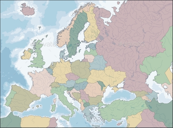 Map of Europe - Backgrounds Decorative