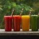 Rainbow From Smoothies. Watermelon, Papaya, Mango, Spinach and Dragon Fruit. Smoothies, Juices - VideoHive Item for Sale