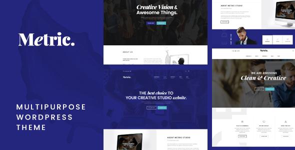 Image of Metric – Multipurpose WordPress Theme