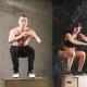 Fit Couple Doing Set of Box Jumps at a Crossfit Gym, . - VideoHive Item for Sale