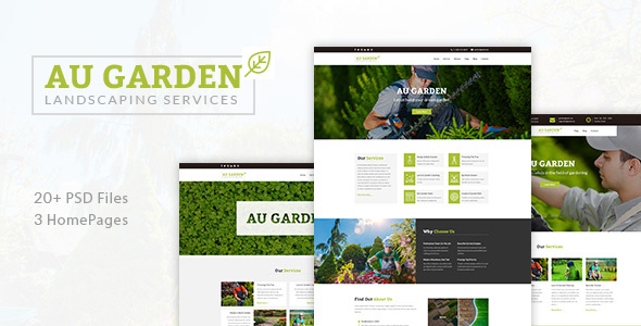 Au Garden - Landscaping & Gardening PSD Template - Business Corporate