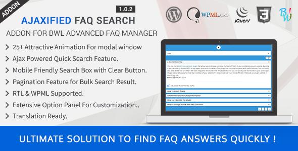 Ajaxified FAQ Search - Advanced FAQ Addon - CodeCanyon Item for Sale