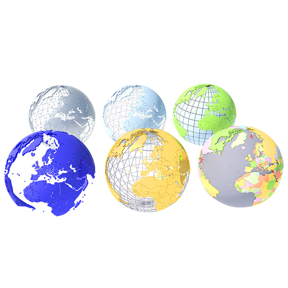 Geopolitical Globe 3D Model - 3DOcean Item for Sale