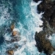 Top Down View of Waves and Clifs - VideoHive Item for Sale