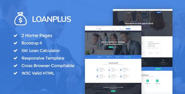 Image of LoanPlus - Loan & Credit Company HTML Template