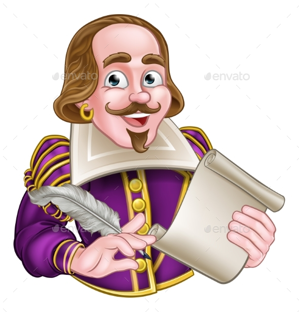 William Shakespeare Cartoon - Miscellaneous Vectors