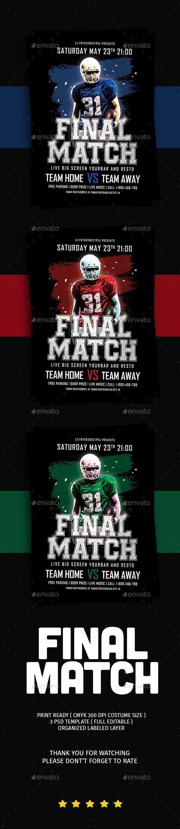 Final Match Football Flyer - Flyers Print Templates