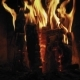 Relaxing Fire. Wooden Planks To the Fire. The Fire Is Lit in the Night in Fireplace - VideoHive Item for Sale