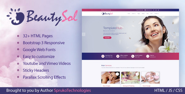 Image of BeautySol Beauty and Spa Makeup & Facial Bootstrap  Responsive Template