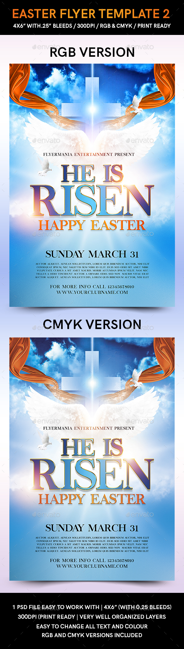 Easter Flyer Template 2 - Flyers Print Templates