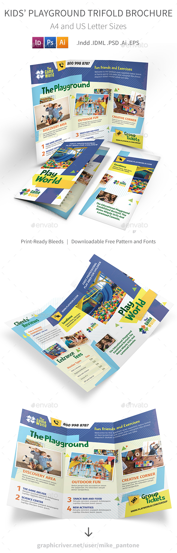 Kids' Playground Trifold Brochure - Informational Brochures