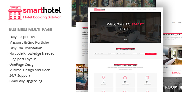 Image of SmartHotel - Hotel Booking HTML5 Template