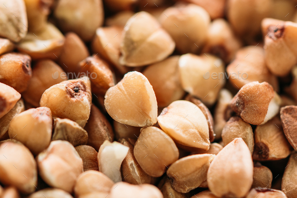 Buckwheat Background, Texture. Healthy Food. - Stock Photo - Images