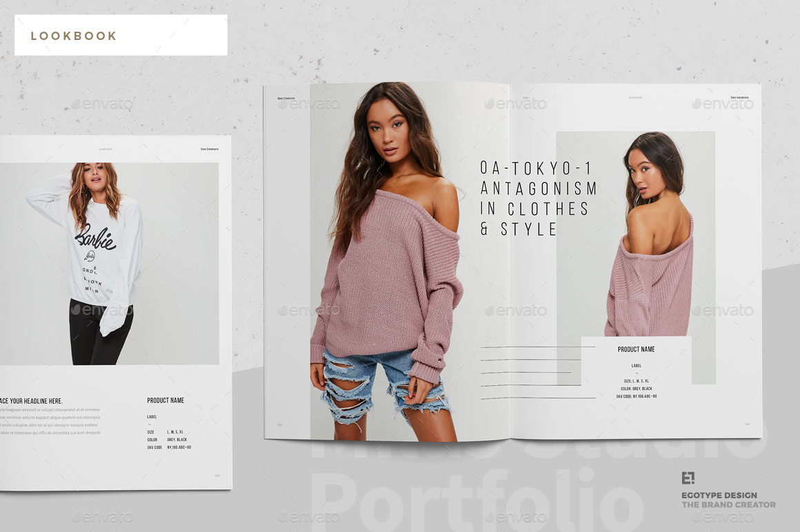 portfolio lookbook design egotype9jpg Lookbook by egotype GraphicRiver