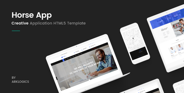 Image of Horse App - HTML Responsive Template
