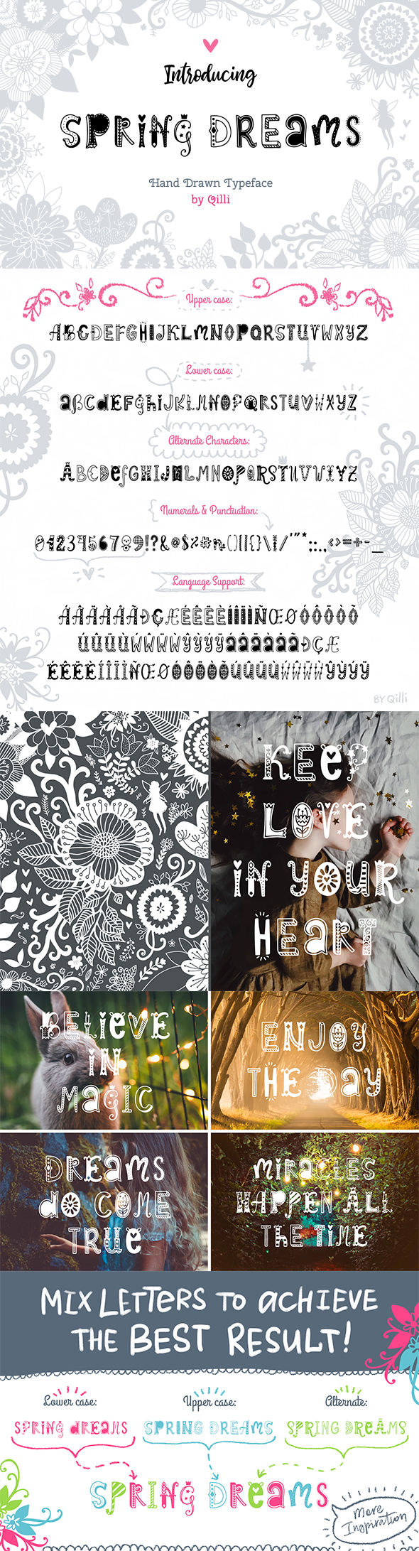 Spring Dreams Typeface