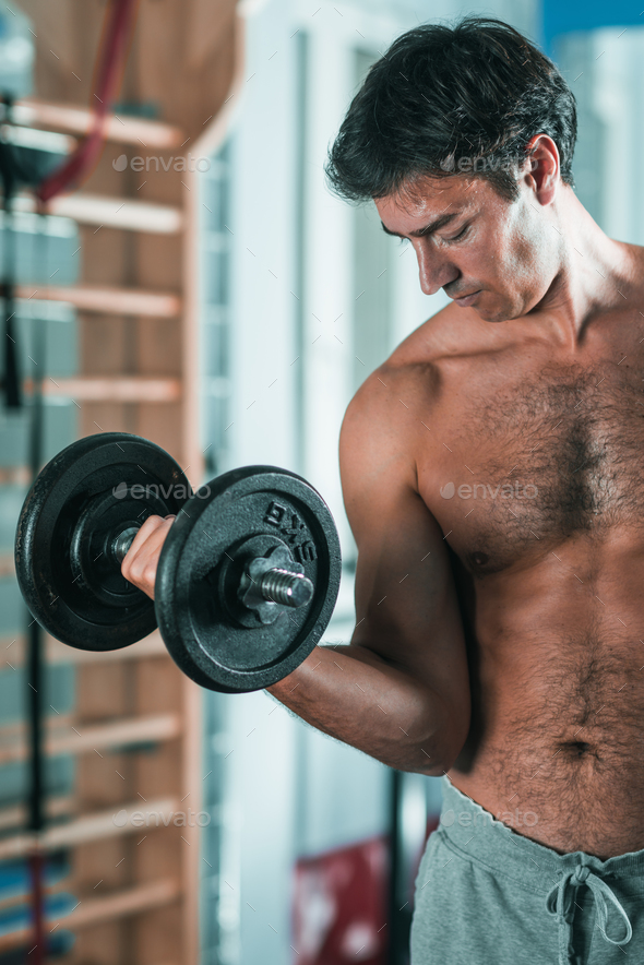 Workout With Weights - Stock Photo - Images