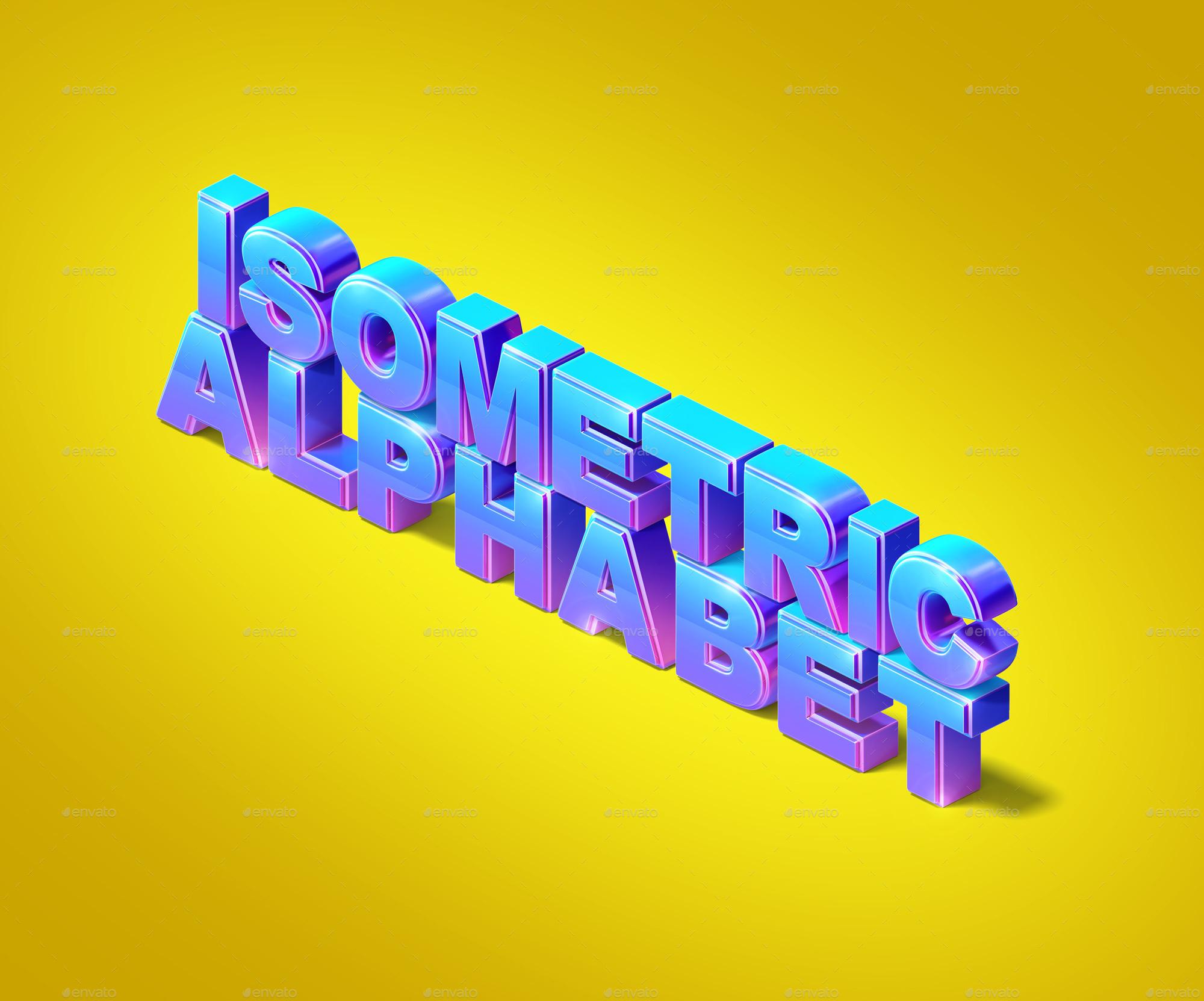 Isometric 3D Text