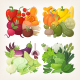Colorful Vector Vegetables - GraphicRiver Item for Sale