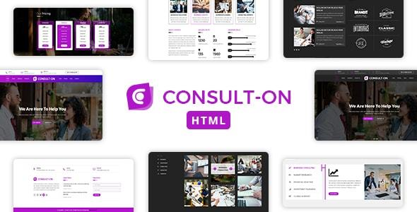 Consulton One Page Business Consulting Corporate Html Template by dazzlersoft