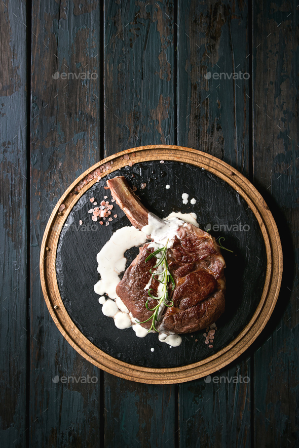 Grilled tomahawk steak - Stock Photo - Images