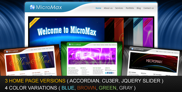 Free Download MicroMax - 4 Colors and 3 Homepage Variations Nulled Latest Version
