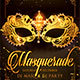 Masquerade Mardi Gras Carnival Party Flyer