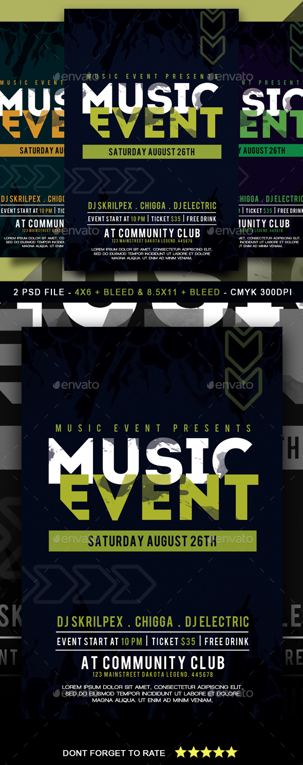 Music Event Flyer - Clubs & Parties Events