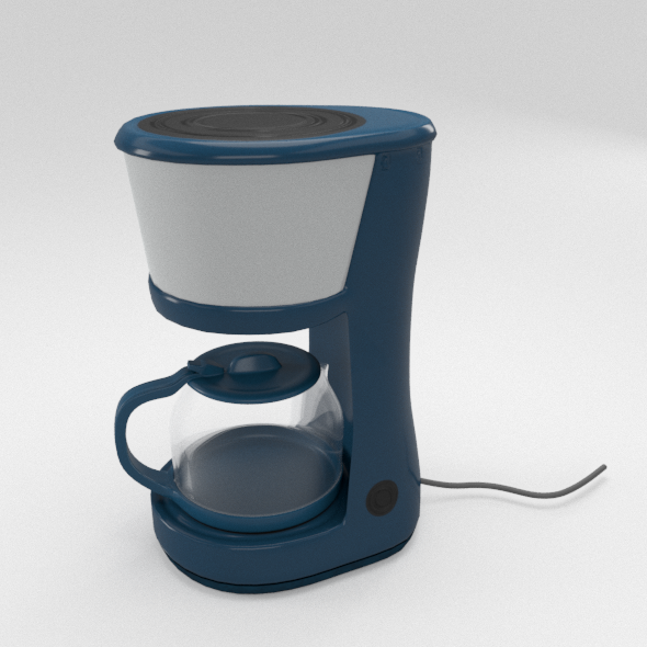 Metal Coffee Maker - 3DOcean Item for Sale