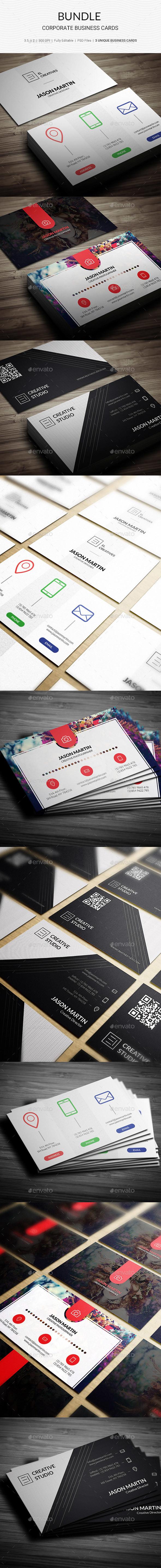 Bundle - Creaitve Business Cards - 3 in 1 - 164 - Creative Business Cards
