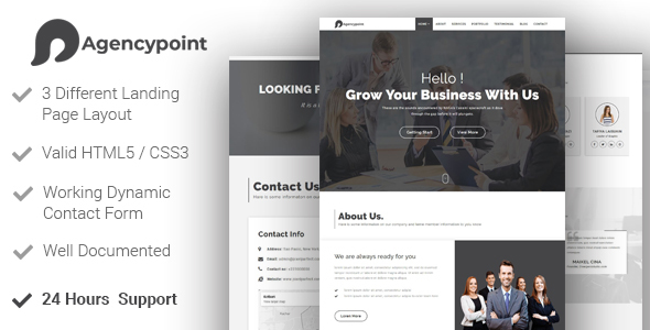 Image of AGENCYPOINT - Agency Business Minimal Template