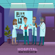 Doctors In Hospital Illustration