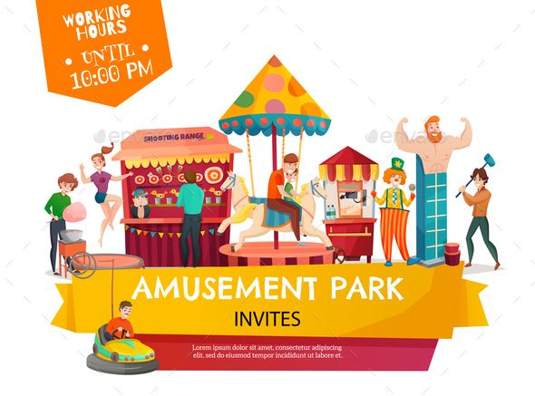 Amusement Park Poster - Seasons/Holidays Conceptual