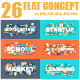 Set of Flat Concepts - GraphicRiver Item for Sale