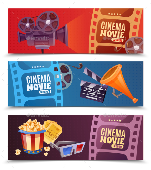 Cinema Horizontal Banners - Food Objects
