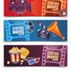 Cinema Horizontal Banners - GraphicRiver Item for Sale