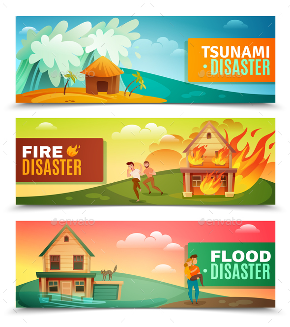 Natural Disasters Horizontal Banners - Landscapes Nature