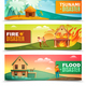 Natural Disasters Horizontal Banners