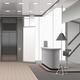 Realistic Lobby Interior Grey Color