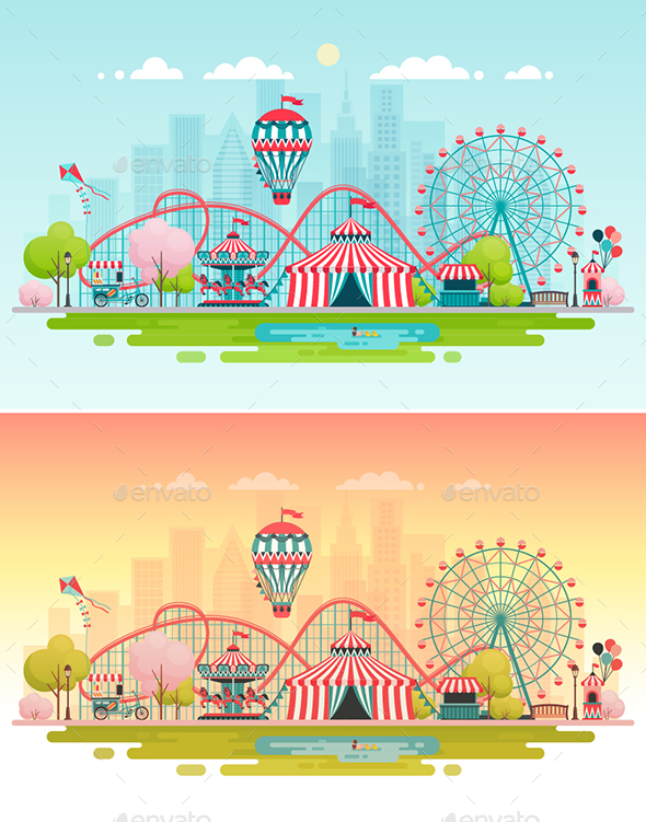 Amusement Park. - Buildings Objects