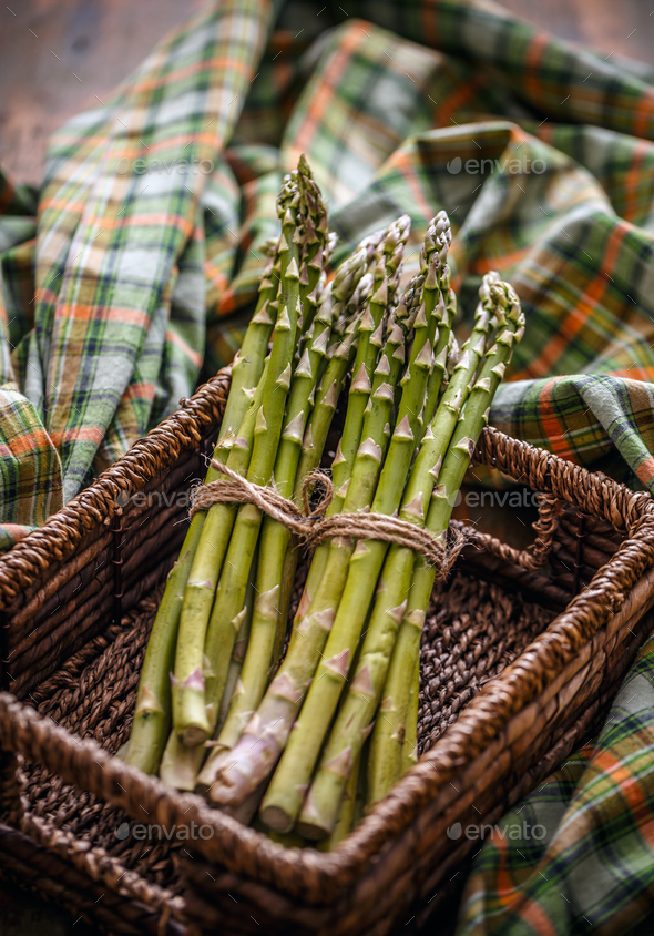 Bunch of fresh raw asparagus - Stock Photo - Images