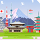 Japan Spring Travel Infographic. - GraphicRiver Item for Sale