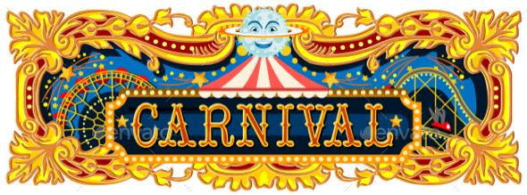 Carnival Banner Circus Template - Vectors