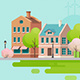 Spring In Small Town. - GraphicRiver Item for Sale