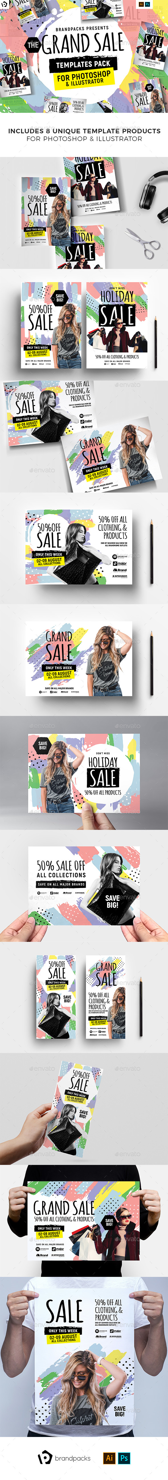 Grand Sale Templates Bundle - Commerce Flyers