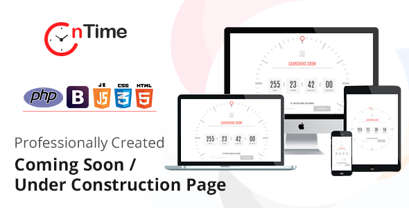OnTime - Coming Soon Page / Under Construction Page with installer - CodeCanyon Item for Sale